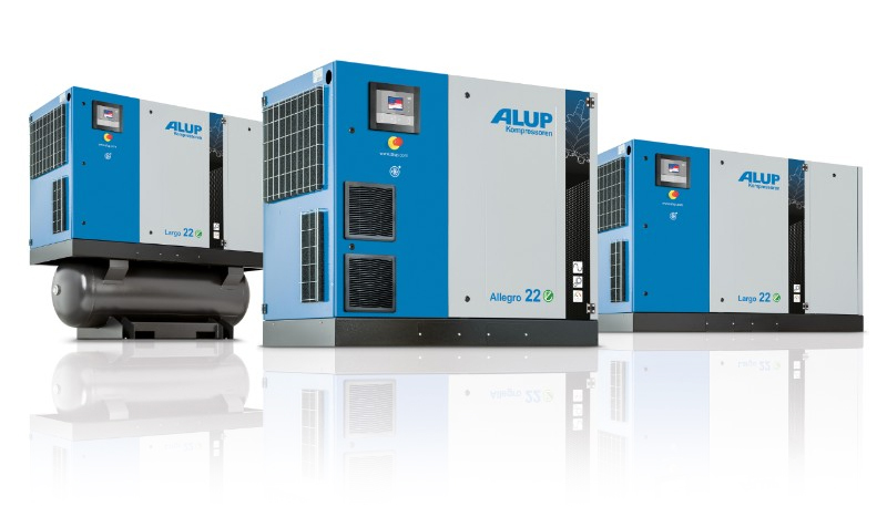 Various air compressor machines by Alup
